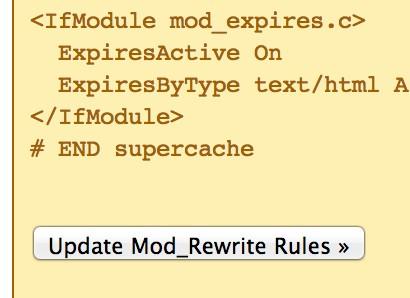 Update mod_rewrite rules