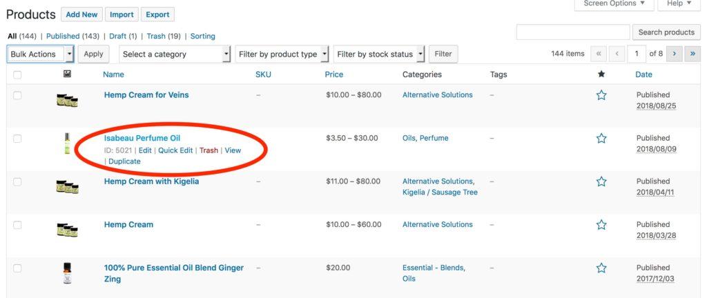 WooCommerce Product Context Menu