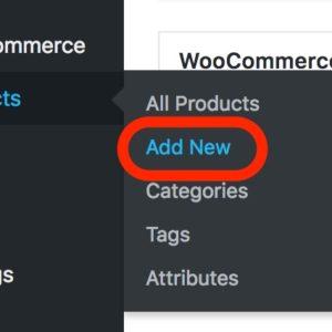 Add New Product Menu