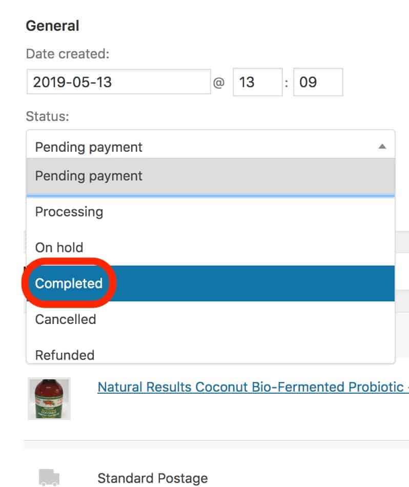 Order Completion Status in WooCommerce