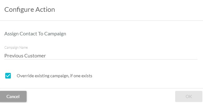 Assign a contact to a campaign in a visual workflow