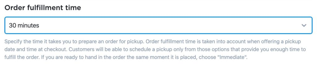 Ecwid Order Fulfilment Time
