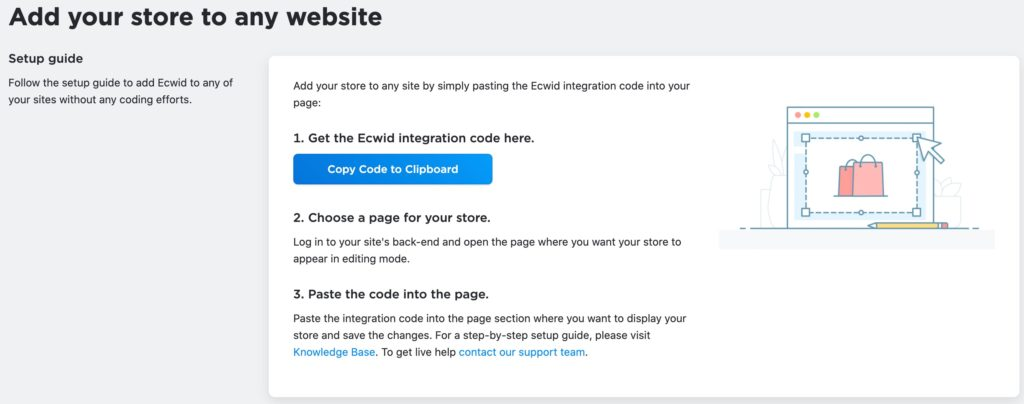 Add Ecwid to any website
