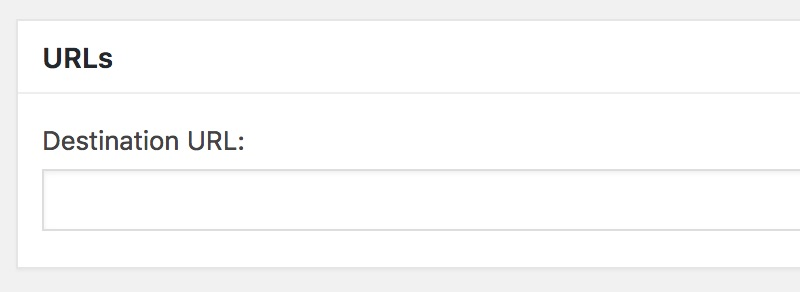 Thirsty Affiliates Add Destination URL Field