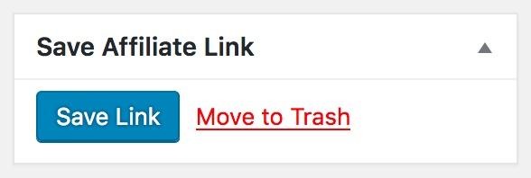 Thirsty Affiliates Save Link Button