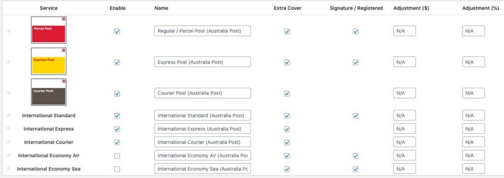 Australia Post WooCommerce Plugin Settings
