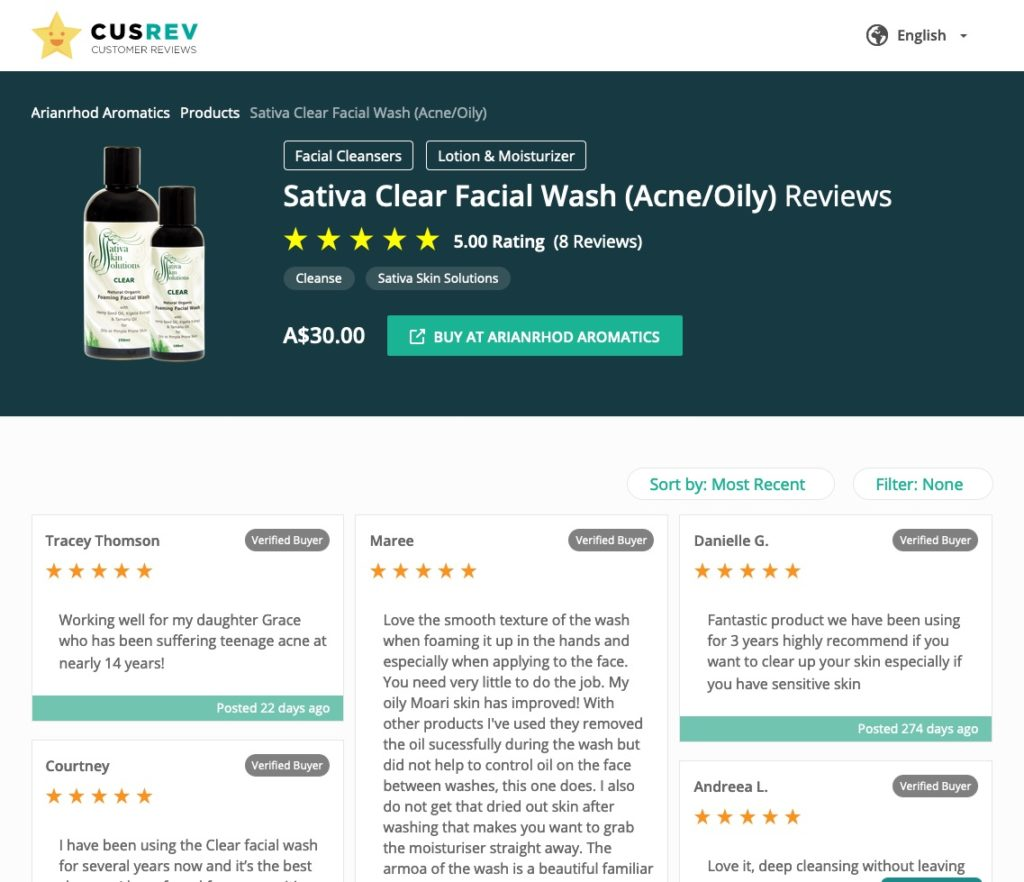 CusRev Verified Reviews for WooCommerce