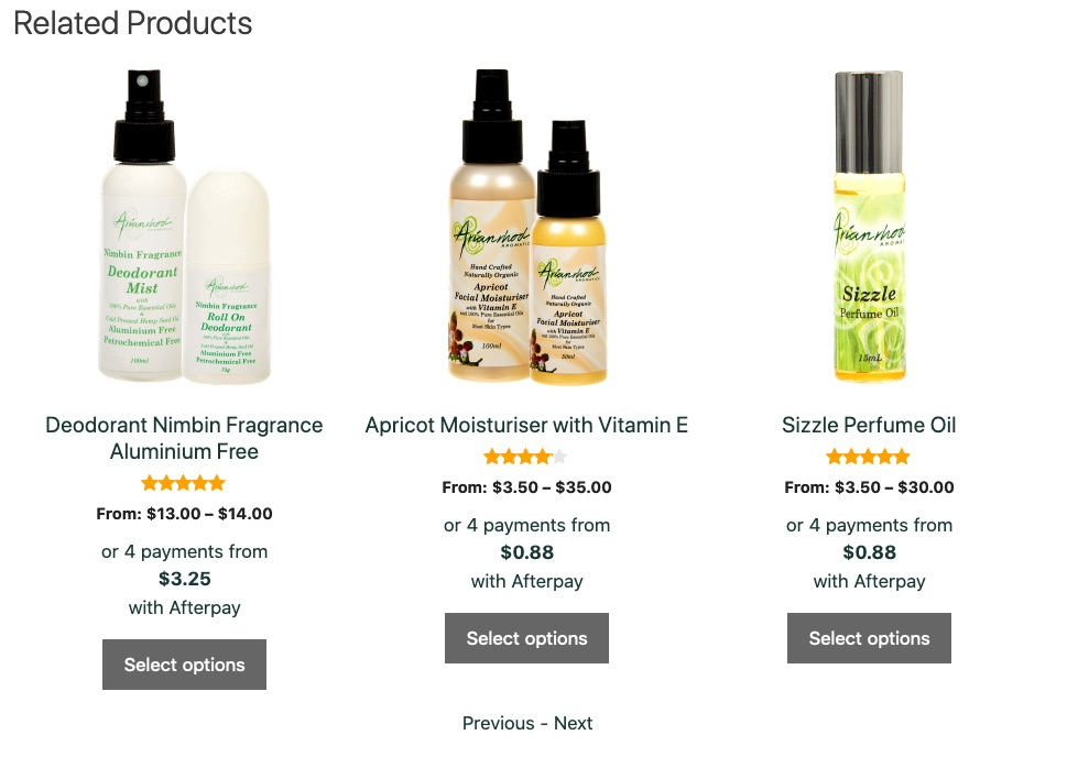 Related products on Arianrhod Aromatics