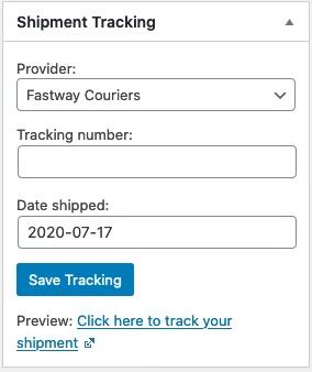 Shipment Tracking Plugin for WooCommerce