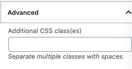 Gutenberg Additional CSS classes