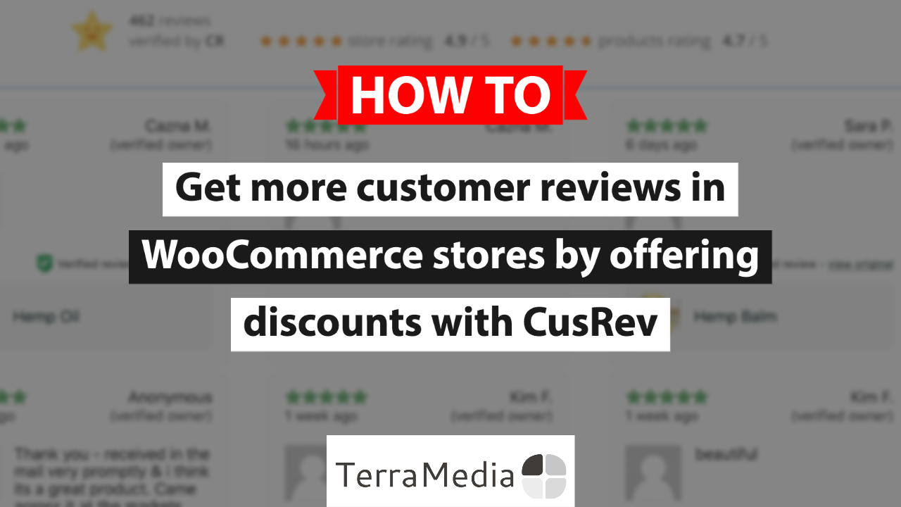 How to incentivise customers to leave reviews in WooCommerce by offering them a discount with CusRev
