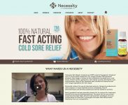 Necessity Natural Skincare WordPress Website